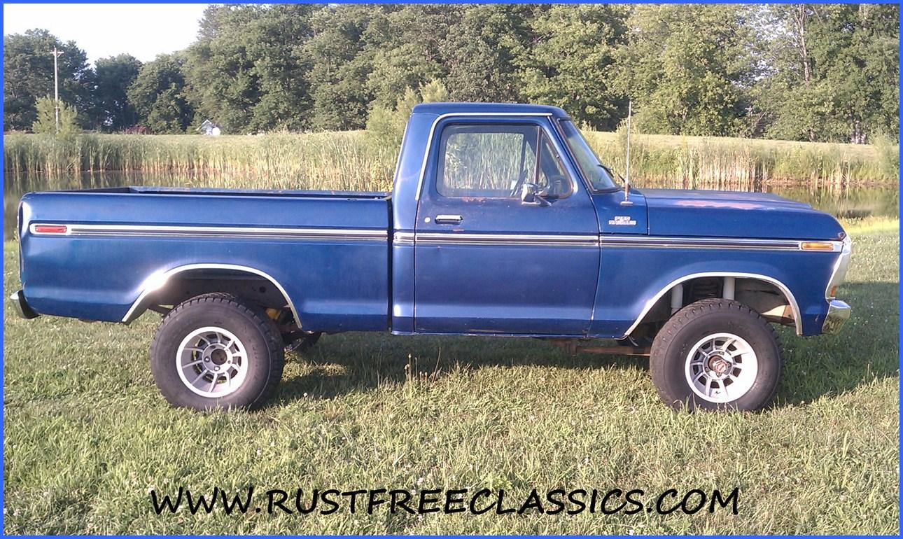 1978 78 F150 Ford 4x4 Short Bed Step Side Ranger Blue | Short News